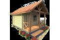 Дачные домики из бруса 70х130 мм